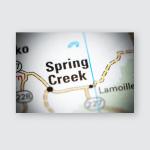 Spring Creek Nevada Usa On Map Poster, Pillow Case, Tumbler, Sticker, Ornament