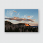 Spring Landscape Contrast Clouds Highlighted By Poster, Pillow Case, Tumbler, Sticker, Ornament