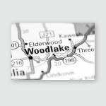 Woodlake California Usa On Map Poster, Pillow Case, Tumbler, Sticker, Ornament