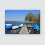 Spring Day Lake Pfaffikon Zurich Canton Poster, Pillow Case, Tumbler, Sticker, Ornament