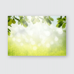 Spring Nature Background Green Tree Leaves Poster, Pillow Case, Tumbler, Sticker, Ornament