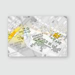 Springfield University Hospital London Uk Map Poster, Pillow Case, Tumbler, Sticker, Ornament