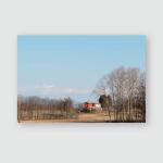 Spring Walk Between Fields Woods Friuli Poster, Pillow Case, Tumbler, Sticker, Ornament