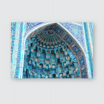 St Petersburg Cathedral Mosque Poster, Pillow Case, Tumbler, Sticker, Ornament