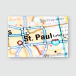 St Paul Minnesota Usa On Map Poster, Pillow Case, Tumbler, Sticker, Ornament