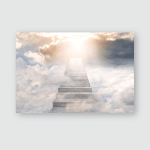 Stairway Heaven Concept Religion Background Poster, Pillow Case, Tumbler, Sticker, Ornament