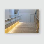 Stairway Metal Handrails New Modern Building Poster, Pillow Case, Tumbler, Sticker, Ornament
