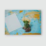 World Map Suitcase Travel Tourism Poster, Pillow Case, Tumbler, Sticker, Ornament