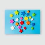 Star Eva Foam Decoration Isolated On Poster, Pillow Case, Tumbler, Sticker, Ornament