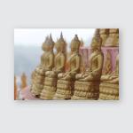 Statue Buddha Thailand Poster, Pillow Case, Tumbler, Sticker, Ornament