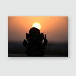 Statue Ganesha Hindu Religion God Nature Poster, Pillow Case, Tumbler, Sticker, Ornament