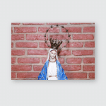 Statue Image Our Lady Grace Mother Poster, Pillow Case, Tumbler, Sticker, Ornament