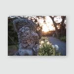 Statue Religion Bali Sunset Poster, Pillow Case, Tumbler, Sticker, Ornament