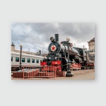Steam Engine Ea3306 Memorial Complex Railway Poster, Pillow Case, Tumbler, Sticker, Ornament