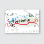 Steelville Missouri Usa Poster, Pillow Case, Tumbler, Sticker, Ornament