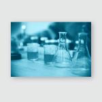 Stem Education Laboratory Beakers Experiment Concept Poster, Pillow Case, Tumbler, Sticker, Ornament