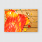 Yellow Red Paint Tie Dye Tshirt Poster, Pillow Case, Tumbler, Sticker, Ornament