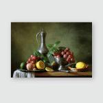 Still Life Fruit Tin Jar Poster, Pillow Case, Tumbler, Sticker, Ornament