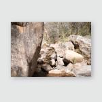 Stone Boulder Creek River Cascade Andean Poster, Pillow Case, Tumbler, Sticker, Ornament
