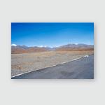 Yellowish Mountain Road View Tibet China Poster, Pillow Case, Tumbler, Sticker, Ornament