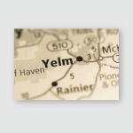 Yelm Washington Usa Poster, Pillow Case, Tumbler, Sticker, Ornament