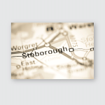 Stoborough United Kingdom On Geography Map Poster, Pillow Case, Tumbler, Sticker, Ornament