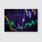 Stock Exchange Chart Graph Finance Business Poster, Pillow Case, Tumbler, Sticker, Ornament