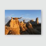Stone Wings Rock Formation Sunrise Bisti Poster, Pillow Case, Tumbler, Sticker, Ornament