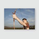 Young Archer Vintage Clothes Arrow Long Poster, Pillow Case, Tumbler, Sticker, Ornament