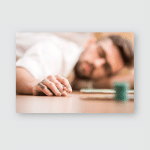 Young Artist Fell Asleep While Drawing Poster, Pillow Case, Tumbler, Sticker, Ornament