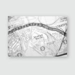Stratford Marsh London Uk Map Poster, Pillow Case, Tumbler, Sticker, Ornament