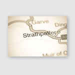 Strathpeffer United Kingdom On Map Poster, Pillow Case, Tumbler, Sticker, Ornament