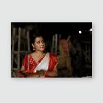 Young Beautiful Indian Bengali Brunette Woman Poster, Pillow Case, Tumbler, Sticker, Ornament