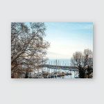Street View Naples Harbor Boats Italy Poster, Pillow Case, Tumbler, Sticker, Ornament