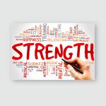 Strength Word Cloud Health Concept Poster, Pillow Case, Tumbler, Sticker, Ornament