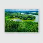 Stunning Blooming Algae On Lake Summer Poster, Pillow Case, Tumbler, Sticker, Ornament