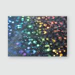 Study Holographic Paper Light Dark Bokeh Poster, Pillow Case, Tumbler, Sticker, Ornament