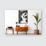 Stylish Retro Living Room Design Vintage Poster, Pillow Case, Tumbler, Sticker, Ornament