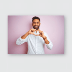 Young Indian Businessman Wearing Elegant Shirt Poster, Pillow Case, Tumbler, Sticker, Ornament