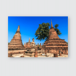 Sukhothai Historical Park Old Town Thailand Poster, Pillow Case, Tumbler, Sticker, Ornament