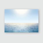 Summer Nice Day Calm Blue Sea Poster, Pillow Case, Tumbler, Sticker, Ornament