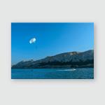 Summer Sport Parasailing Clear Sky Above Poster, Pillow Case, Tumbler, Sticker, Ornament