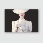 Young Redhead Woman White Victorian Era Poster, Pillow Case, Tumbler, Sticker, Ornament