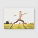 Young Sport Woman Meditates While Practicing Poster, Pillow Case, Tumbler, Sticker, Ornament
