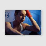 Young Sportswoman Not Feeling Motivated While Poster, Pillow Case, Tumbler, Sticker, Ornament