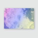 Sun Cloud Background Pastel Color Poster, Pillow Case, Tumbler, Sticker, Ornament