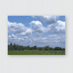 Sun Shines On Cloud Withe Green Poster, Pillow Case, Tumbler, Sticker, Ornament