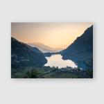 Sunrise Lungern Switzerland Poster, Pillow Case, Tumbler, Sticker, Ornament