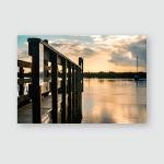 Sunrise Over Saint Augustine Lighthouse Pier Poster, Pillow Case, Tumbler, Sticker, Ornament
