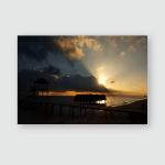 Sunrise Tropical Cuban Beach Next Small Poster, Pillow Case, Tumbler, Sticker, Ornament